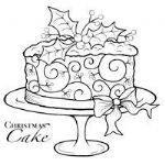 Christmas Cake  Clear Woodware Stamp (JGS104)